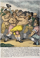 0055213 © Granger - Historical Picture ArchiveBOXING MATCH, 1812.   'Description of a Boxing Match': etching, 1812, by Thomas Rowlandson.