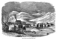 0268578 © Granger - Historical Picture ArchiveSCOTLAND: CURLING, 1854.   'Medal Match of the Fingask Curling Club' in Scotland. Wood engraving, English, 1854.