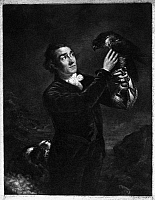 0101327 © Granger - Historical Picture ArchiveNORTHCOTE: FALCONRY.  Mezzotint after the painting by James Northcote, late 18th or early 19th century.