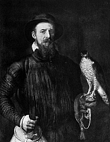 0101346 © Granger - Historical Picture ArchiveFLORIS: THE FALCONER.   Painting by Frans Floris, 16th century.