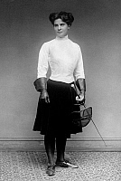 0051095 © Granger - Historical Picture ArchiveFENCING: MRS. W.H. DEWAR.   Mrs. William H. Dewar of Philadelphia, U.S. national champion in women's foil in 1913. Photograph, early 20th century.