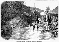 0045764 © Granger - Historical Picture ArchiveSCOTLAND: FISHING, 1880.   Fly-fishing for salmon on the Cluny River, Scotland. Wood engraving, English, 1880.