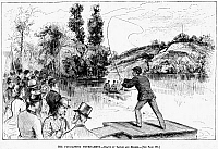 0054464 © Granger - Historical Picture ArchiveFLY FISHING, 1883.   The fly-casting tournament. Line engraving, American, 1883.