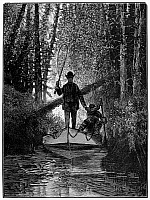 0101376 © Granger - Historical Picture ArchiveTROUT FISHING, 1882.   'Trout Fishing on Long Island.' Line engraving after a drawing by Gaston Fay, 1882.