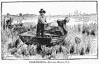 0101384 © Granger - Historical Picture ArchiveMORAN: CRAB FISHING, 1884.   Line engraving after a painting by Edward Moran, 1884.