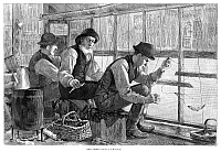 0267452 © Granger - Historical Picture ArchiveFISHING, 1886.   'Smelt-fishing.' Engraving after a drawing by J. MacDonald, 1886.