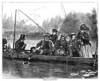 0267458 © Granger - Historical Picture ArchiveFISHING, 1871.   'Fishing in the country.' Engraving, 1871.