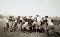 0039269 © Granger - Historical Picture ArchiveCOLLEGE FOOTBALL GAME, 1905.   An unidentified American college football scrimmage, c1905.