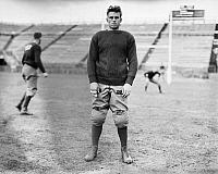 0268695 © Granger - Historical Picture ArchiveFOOTBALL: YALE, c1914.   Portrait of Richard M. Scovil of the Yale University football team. Photograph, c1914.