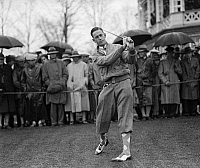 0265384 © Granger - Historical Picture ArchiveGOLFING, c1928.   Phillips Finlay golfing at the Chevy Chase Golf Club in Maryland. Photograph, c1928.