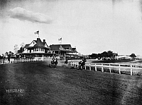 0039127 © Granger - Historical Picture ArchiveHORSE RACING, 1915.   Finish of a race at a track in Lexington, Kentucky, c1915.