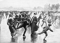 0004644 © Granger - Historical Picture ArchiveICE SKATING, 1886.   Lithograph, American.