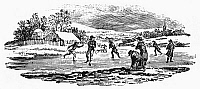 0054557 © Granger - Historical Picture ArchiveICE SKATING.   Wood engraving by Thomas Bewick (1753-1828).