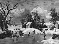 0097922 © Granger - Historical Picture ArchiveICE SKATING, 1880.   Chromo-lithograph, American, 1880.