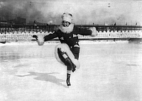 0118905 © Granger - Historical Picture ArchiveICE SKATER, c1906-1916.  A woman competing in the St. Paul Outdoor Sports Carnival Fancy Skating Contest, St. Paul, Minnesota. Photograph, c1906-1916.