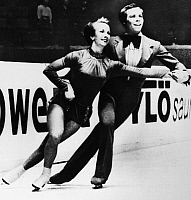 0171875 © Granger - Historical Picture ArchiveICE DANCERS, 1976.   American ice dancing couple Colleen O'Connor and Jim Millns performing at the World Figure Skating Championships in Göteborg, Sweden, where they would receive the bronze medal, 3 March 1976.