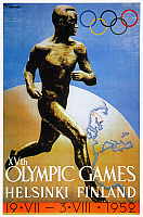 0035666 © Granger - Historical Picture ArchiveOLYMPIC GAMES, 1952.   The official poster for the 1952 Olympic Games at Helsinki, Finland.