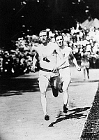 0055200 © Granger - Historical Picture ArchiveATHENS: OLYMPICS, 1906.   Paul Pilgrim, U.S. winner in the 400 and 800 meters events at the 1906 Olympics at Athens, Greece.