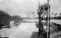 0116922 © Granger - Historical Picture ArchiveOLYMPIC GAMES, 1912.   The 100 meter swim event at the 5th Olympic Games, held in Stockholm, Sweden, 1912.
