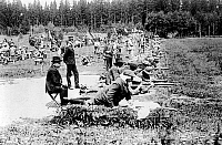 0116924 © Granger - Historical Picture ArchiveOLYMPIC GAMES, 1912.   Army rifle shooting event at the fifth Olympic Games, held in Stockholm, Sweden, in 1912.