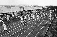 0116931 © Granger - Historical Picture ArchiveOLYMPIC GAMES, 1912.   Track and field trials during the fifth Olympic Games, held in Stockholm, Sweden, in 1912.