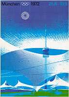 0259967 © Granger - Historical Picture ArchiveOLYMPIC GAMES, 1972.   The official poster for the 1972 Summer Olympic Games in Munich, Germany.