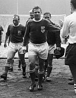 0131298 © Granger - Historical Picture ArchiveFERENC PUSKAS (1927-2006).   Hungarian soccer player, with the FIFA all-star team, c1953.