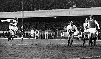 0131453 © Granger - Historical Picture ArchiveENGLAND: SOCCER GAME, 1972.   Alan Ball of Arsenal FC scores a goal against Norwich City FC, 26 December 1972.