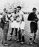 0131713 © Granger - Historical Picture ArchiveWORLD CUP, 1934.   Italy coach Vittorio Pozzo (left) instructs his players before the first period of extra time during the 1934 World Cup final match against Czechoslovakia.