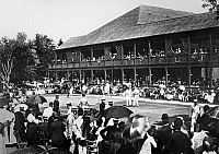 0127540 © Granger - Historical Picture ArchiveTENNIS: NEWPORT, 1890.   The conclusion of a semi-final, men's singles match at the Newport Casino, Newport Rhode Island, 1890.