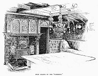 0098039 © Granger - Historical Picture ArchiveSTEAM YACHT: INTERIOR.   Main saloon of the steam yacht 'Namouna.' Line engraving, 1882.