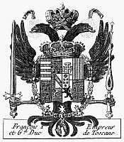 0131507 © Granger - Historical Picture ArchiveITALIAN COAT OF ARMS.   Coat of Arms of Francesco I de Medici (1541-1587), Grand Duke of Tuscany. French copper engraving, 18th century, from Denis Diderot's 'Encyclopedia.'