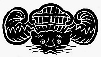 0097824 © Granger - Historical Picture ArchiveCHINESE SYMBOL: LUCK.   Tiger, a Chinese symbol of luck and wealth. Woodcut.