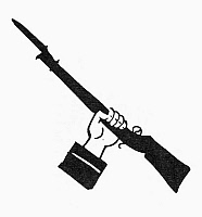 0098304 © Granger - Historical Picture ArchiveSYMBOL: RAISED GUN.   Symbol of freedom.