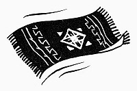 0098440 © Granger - Historical Picture ArchiveFLYING CARPET.   Symbol of safe travel. Line engraving.
