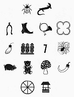 0098450 © Granger - Historical Picture ArchiveSYMBOLS: GOOD LUCK.   Various symbols of good luck.