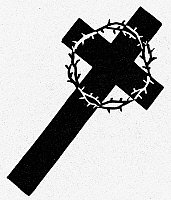 0098528 © Granger - Historical Picture ArchiveSYMBOL: GOOD FRIDAY.   Cross and crown of thorns, Christian symbol of Good Friday.