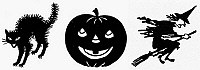 0098532 © Granger - Historical Picture ArchiveSYMBOLS: HALLOWEEN.   Various symbols of Halloween.