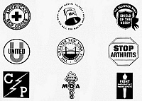 0098751 © Granger - Historical Picture ArchiveHEALTH ORGANIZATIONS.   Various symbols of American Health Organizations.