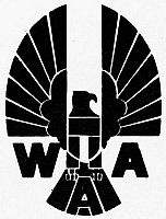 0098985 © Granger - Historical Picture ArchiveWAR ASSETS ADMINISTRATION.   Logo for the War Assets Administration, established in the United States, 1946.