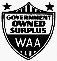 0098986 © Granger - Historical Picture ArchiveWAR ASSETS ADMINISTRATION.   Logo for the War Assets Administration, established in the United States, 1946.