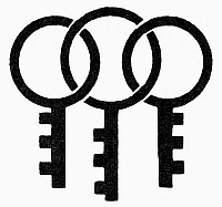 0099017 © Granger - Historical Picture ArchiveSYMBOL: THREE KEYS.   Japanese symbol of good luck, three keys to open the doors that lead to love, health and wealth.