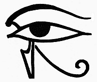 0099546 © Granger - Historical Picture ArchiveEGYPTIAN SYMBOL: UTCHAT.   The Utchat (or Udjat), an ancient Egyptian symbol of the eye of Horus, often thought to bring luck, protection and health.