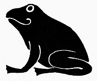 0099548 © Granger - Historical Picture ArchiveEGYPTIAN SYMBOL: FROG.   An ancient Egyptian symbol of abundance.