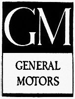 0115925 © Granger - Historical Picture ArchiveAUTOMOBILES: GM LOGO.   An early logo of General Motors Company, or GM, founded in Flint, Michigan, in 1908.