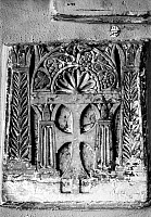 0125747 © Granger - Historical Picture ArchiveCOPTIC CROSS.   Cross flanked by lotus-form columns. Coptic tombstone relief, limestone, 5th century A.D.