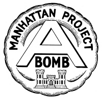 0014528 © Granger - Historical Picture ArchiveMANHATTAN PROJECT SEAL.   A seal from the Manhattan Project with the atomic bomb mushroom cloud.