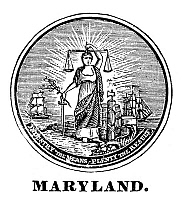 0041773 © Granger - Historical Picture ArchiveMARYLAND STATE SEAL.   The seal of Maryland, one of the original Thirteen States, at the time of the American Revolution.