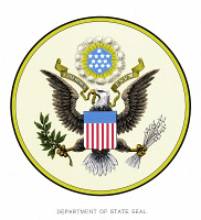 0067660 © Granger - Historical Picture ArchiveU.S. STATE DEPARTMENT SEAL.   Seal of the United States State Department. WARNING: Seals of the Federal Government are not in the public domain. No use may be made for other than official business without specific authorization of the agency involved.