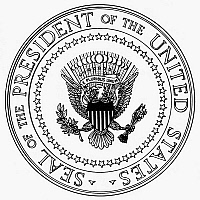 0068516 © Granger - Historical Picture ArchiveU.S. PRESIDENTIAL SEAL.   The seal of the President (48 stars). NOTE: SEALS OF THE FEDERAL GOVERNMENT ARE NOT IN THE PUBLIC DOMAIN AND MAY NOT BE USED FOR OTHER THAN OFFICIAL BUSINESS WITHOUT THE SPECIFIC AUTHORIZATION OF THE AGENCY INVOLVED.